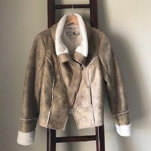 SHERPA SNAKE skin pattern moto jacket. Like new